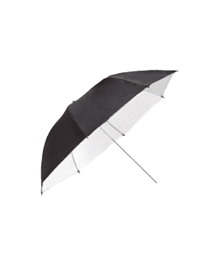 Paraguas 150 cm Negro/Blanco
