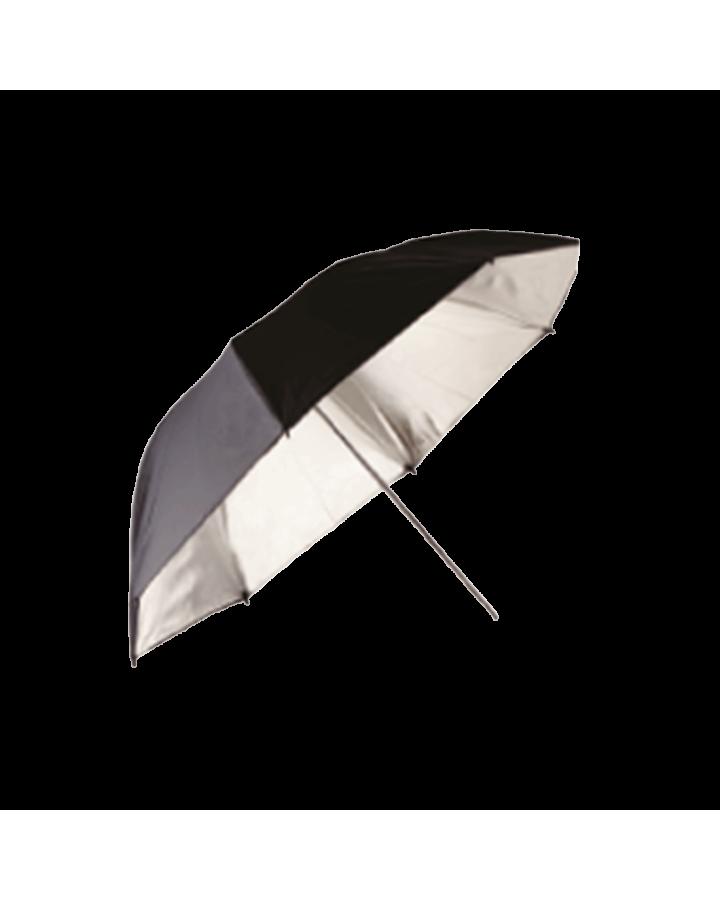 Paraguas profundo Ø85 cm Negro/Plata